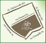 Notre Dame Estates map
